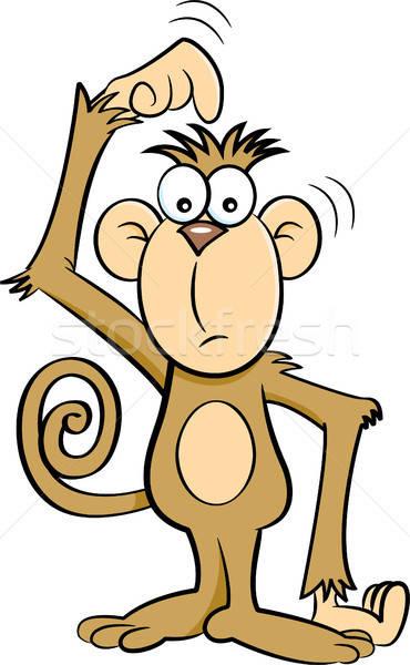 Cartoon Confused Monkey. Stock photo © bennerdesign