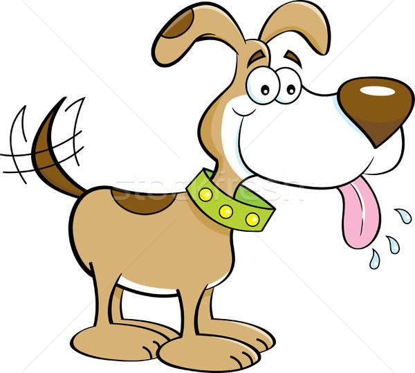 Cartoon счастливым собака иллюстрация смешные Сток-фото © bennerdesign