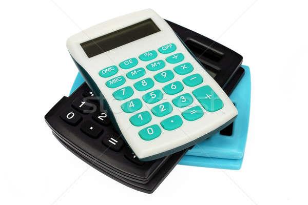 Three colorful calculators Stock photo © berczy04