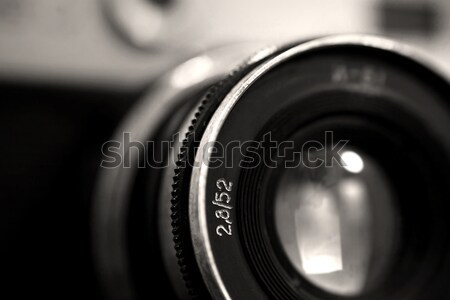 Old russian photo camera objective close up Stock photo © berczy04
