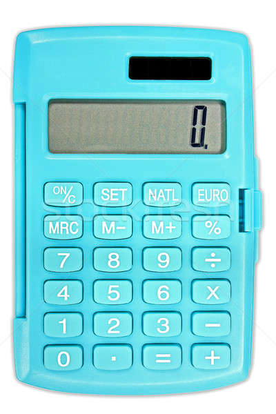 Calculator in turquoise color with solar panel Stock photo © berczy04