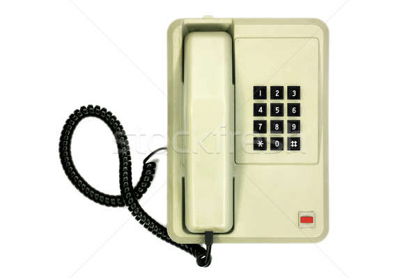 Old simple office desk phone Stock photo © berczy04