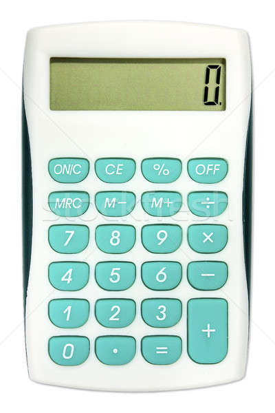 Calculator with turquoise color buttons Stock photo © berczy04