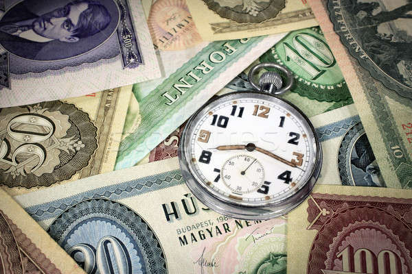 Hungarian time is money pocket watch Stock photo © berczy04