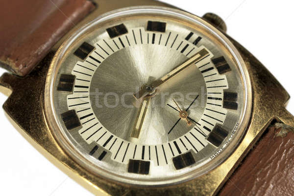 Old soviet analog watch close up Stock photo © berczy04
