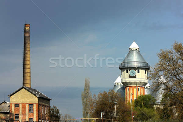 Stock photo: Abandoned old gas towers
