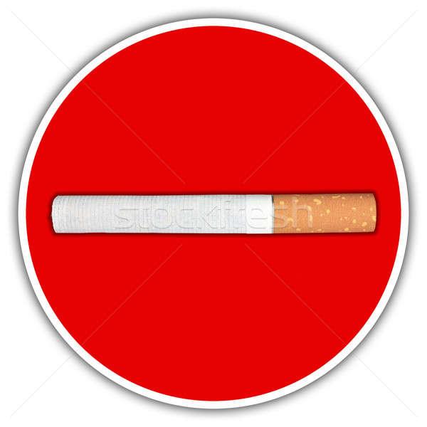 Cigarette traffic sign Stock photo © berczy04