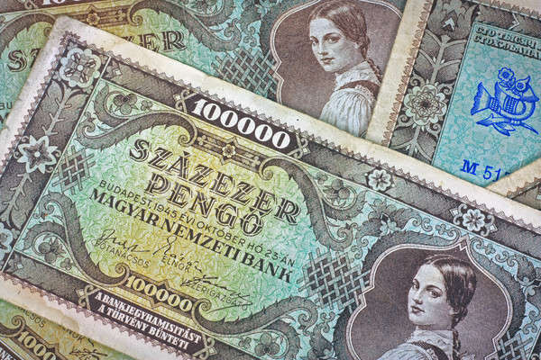 Old Hungarian lakh pengo money Stock photo © berczy04