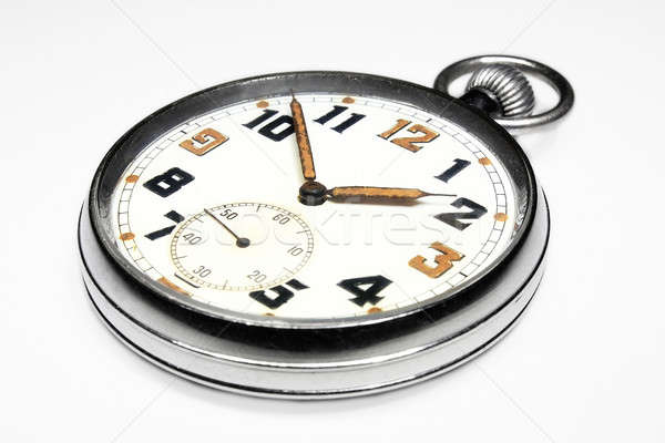 Vintage swiss pocket watch isolated Stock photo © berczy04