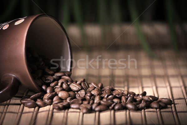 Coffee mug with beens Stock photo © berczy04