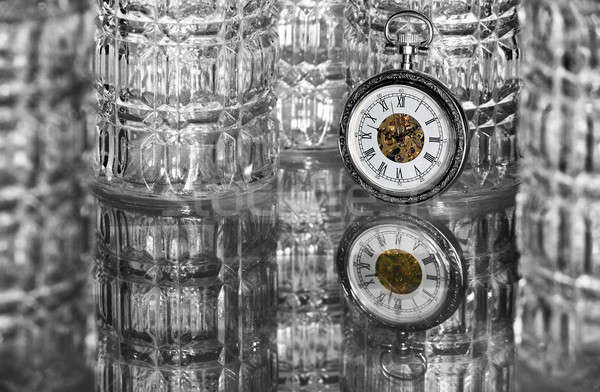 Pocket watch with glasses Stock photo © berczy04