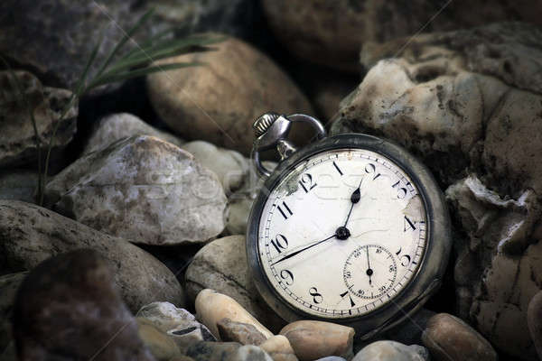 Pocket watch underwater Stock photo © berczy04