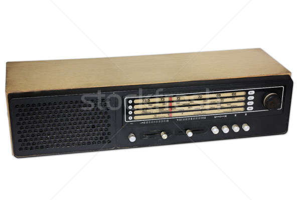 Old radio isolated Stock photo © berczy04