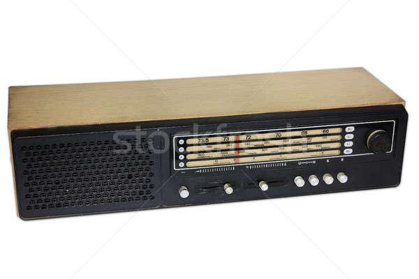 古い ラジオ 孤立した 木製 白 木材 ストックフォト © berczy04