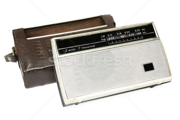 Old russian radio wirh bag Stock photo © berczy04