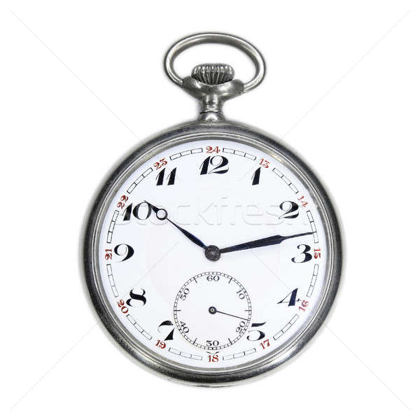 Old swiss pocket watch isolated Stock photo © berczy04