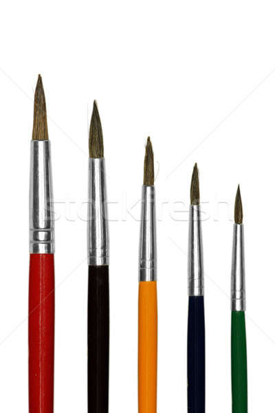 Artistic colored paint brushes Stock photo © berczy04