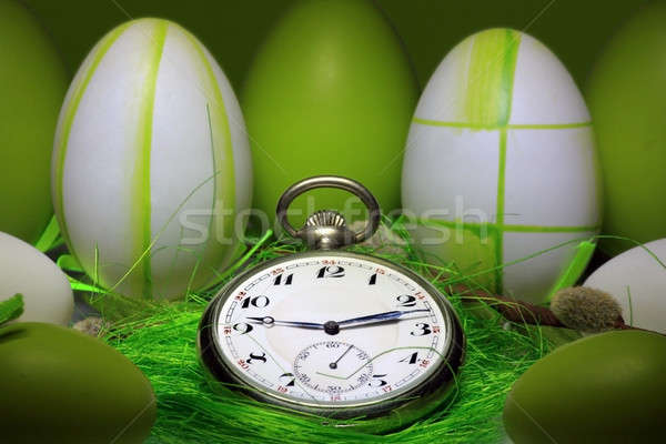 Pocket Watch Easter egg theme Stock photo © berczy04