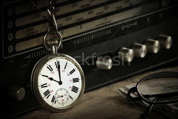Pocket watch with radio Stock photo © berczy04
