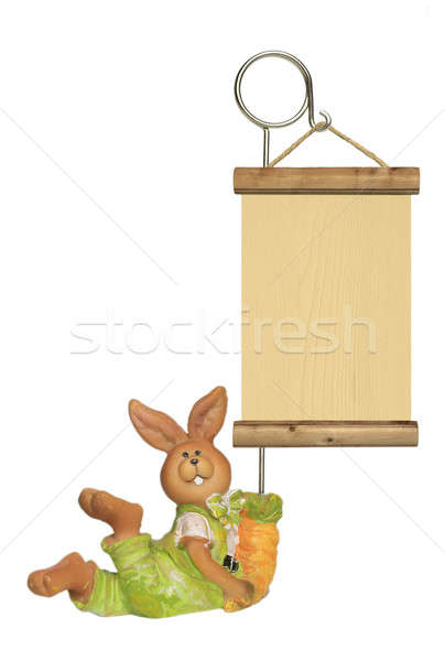 Easter egg rabbit with table Stock photo © berczy04