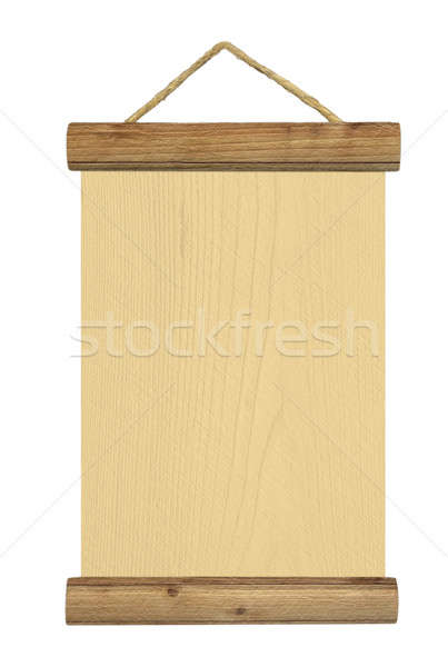 Blank wooden table asparagus Stock photo © berczy04