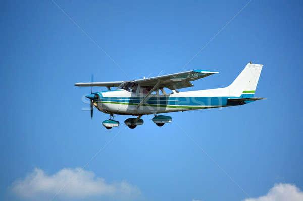 Light plane on final Stock photo © berczy04