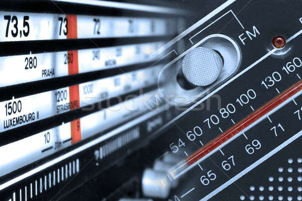 Radio tuner frequencies Stock photo © berczy04