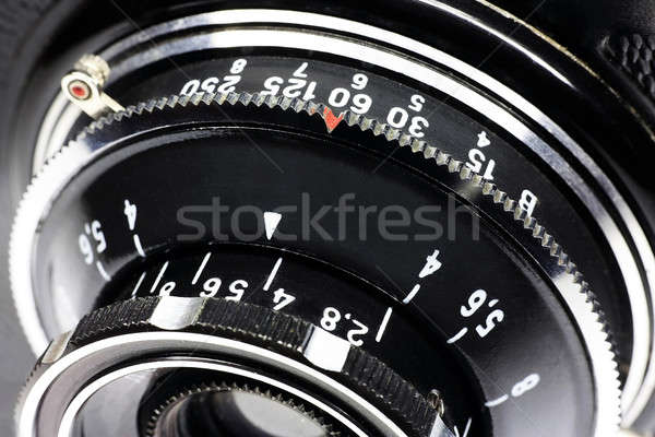 Old objective close up Stock photo © berczy04