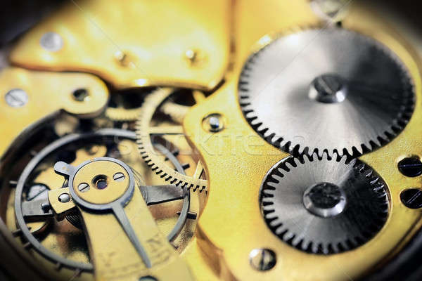 Old pocket watch inside Stock photo © berczy04