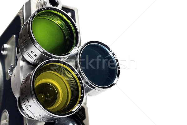 Vintage movie camera Stock photo © berczy04