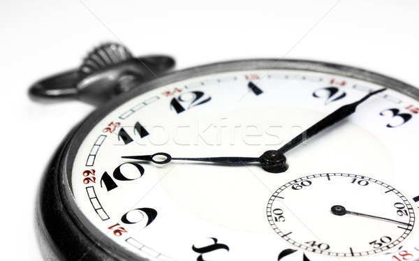 Old swiss pocket watch isolated very close up Stock photo © berczy04