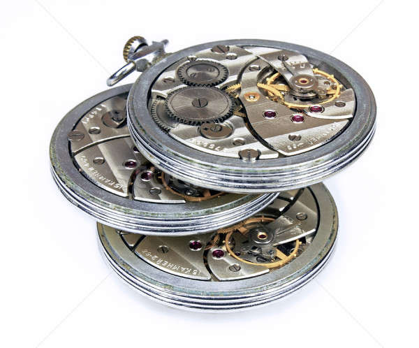 There similar old pocket watch mechanism isolated Stock photo © berczy04
