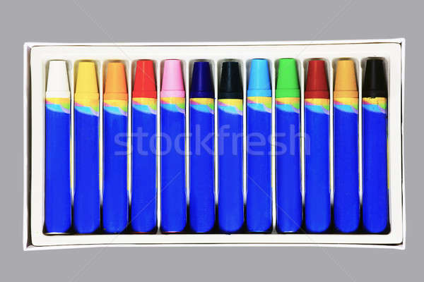 Colorful crayons in box Stock photo © berczy04