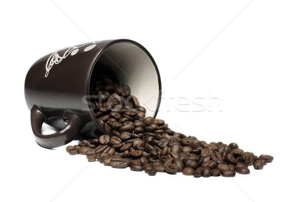 Coffee mug and beans Stock photo © berczy04