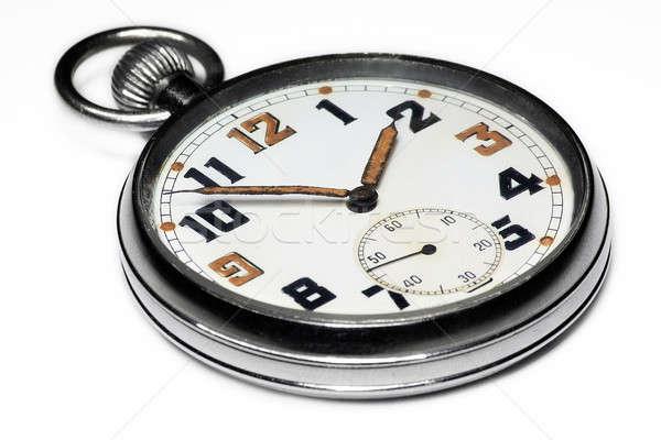 Vintage swiss pocket watch isolated Stock photo © berczy04