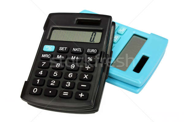 Two similar calculators different colors Stock photo © berczy04
