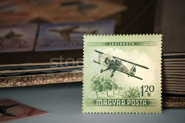 Old Hungarian post stamps Stock photo © berczy04