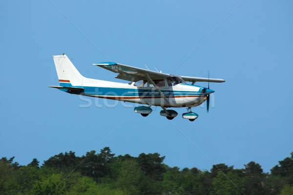 Light plane on final Stock photo © berczy04