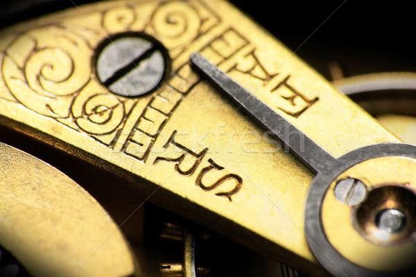 Vintage relógio de bolso rápido devagar indicador apressar Foto stock © berczy04
