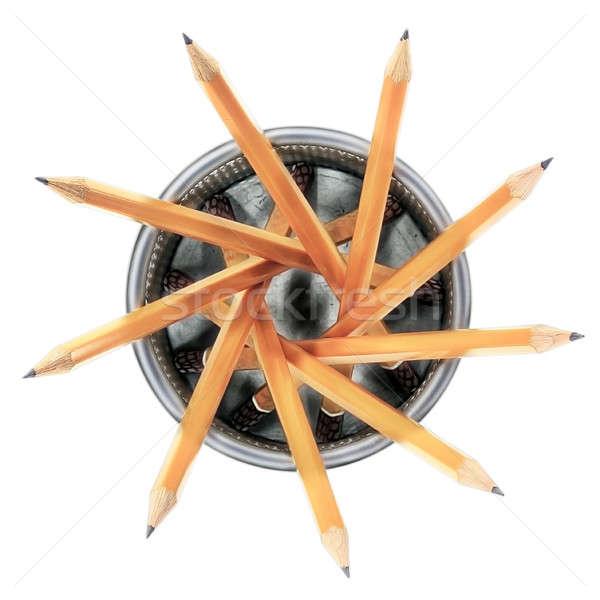 Pencils in holder 1 Stock photo © berczy04