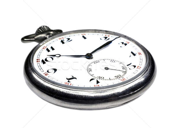 Old swiss pocket watch isolated close up Stock photo © berczy04