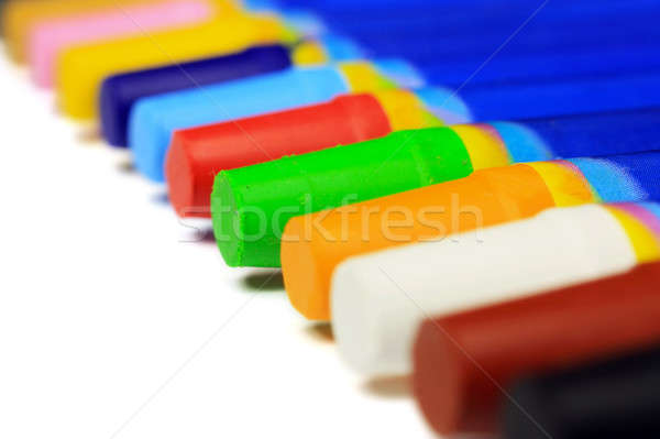Colorful crayons diagonal directions Stock photo © berczy04