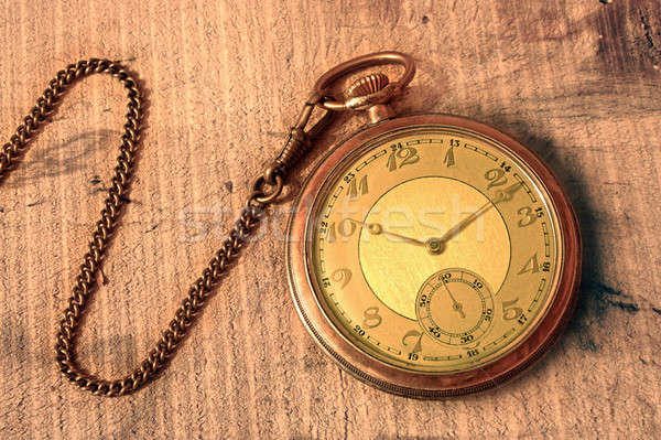 Pocket Watch with chain Stock photo © berczy04
