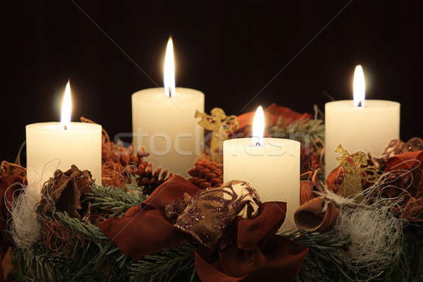 Advent wreath Stock photo © berczy04