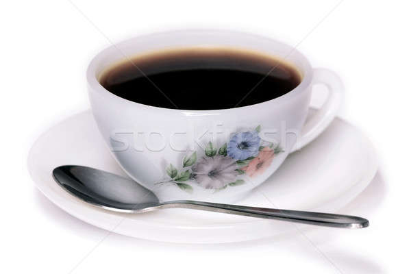 Coffee cup and spoon Stock photo © berczy04