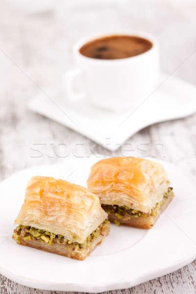Türkisch Kaffee weiß Essen frischen Zucker Stock foto © bernashafo