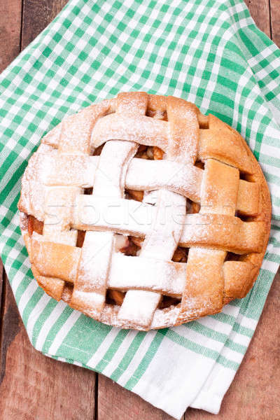 Manzana tarta alimentos fondo mesa Foto stock © bernashafo