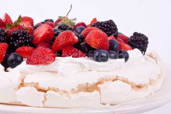 Berry pavlova cake Stock photo © bernashafo
