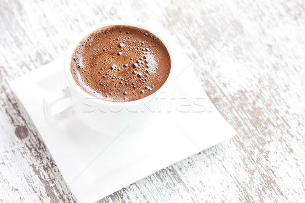 Türkisch Kaffeetasse Kaffee weiß Holz trinken Stock foto © bernashafo