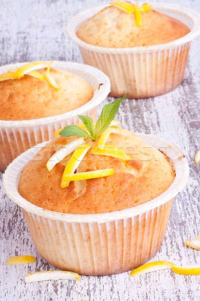 lemon muffin Stock photo © bernashafo
